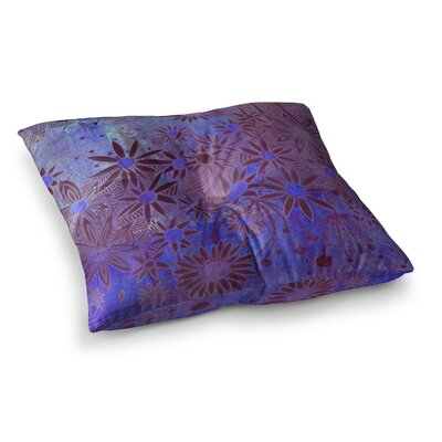Marianna Tankelevich Night Square Floor Pillow Size: 26 x 26, Color: Blue/Black