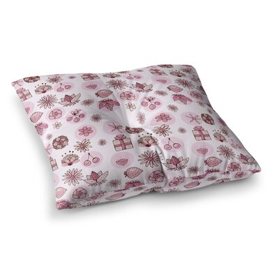 Marianna Tankelevich Cute Stuff Illustration Square Floor Pillow Size: 23 x 23
