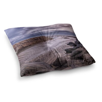 Nick Nareshni Clouds over Carlsbad Beach Coastal Square Floor Pillow Size: 23 x 23