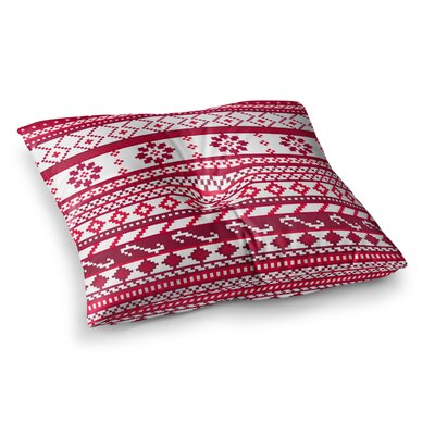 Noonday Design Fairisle Christmas Pattern Square Floor Pillow Size: 23 x 23