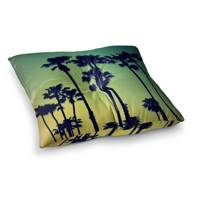 Richard Casillas Ocean Blvd Cruisin Square Floor Pillow Size: 26 x 26