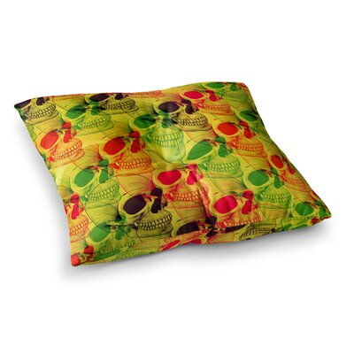 Roberlan Skullfest Square Floor Pillow Size: 23 x 23