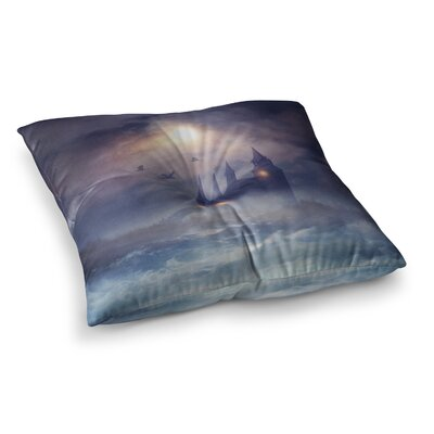 Viviana Gonzalez Sunset I C. III Illustration Square Floor Pillow Size: 26 x 26
