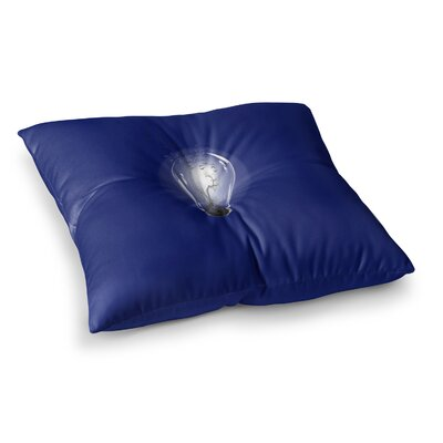 BarmalisiRTB Bulb Square Floor Pillow Size: 26 x 26