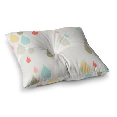 Very Sarie Rainy Days Square Floor Pillow Size: 26 x 26
