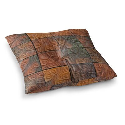Susan Sanders Whimsy Tile Rustic Square Floor Pillow Size: 26 x 26