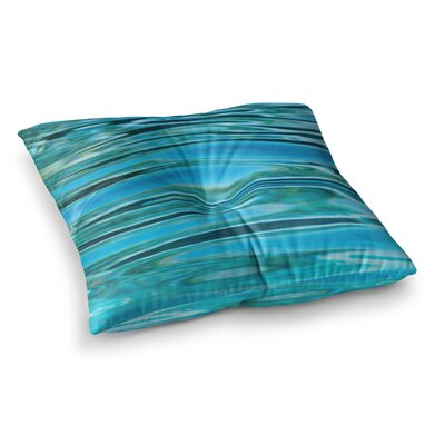 Susan Sanders Water Square Floor Pillow Size: 23 x 23