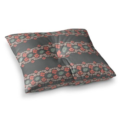 Trebam Veza Modern Lines Square Floor Pillow Size: 23 x 23