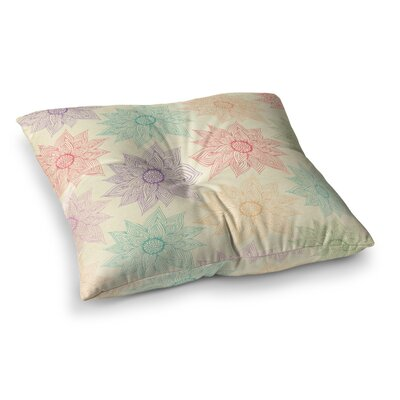 Pom Graphic Design Spring Florals Square Floor Pillow Size: 26 x 26