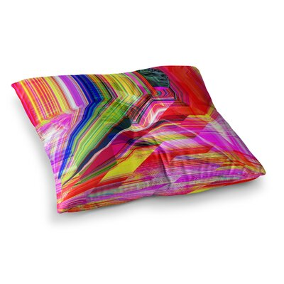 Roberlan Mechancholya Abstract Pop Art Square Floor Pillow Size: 26 x 26