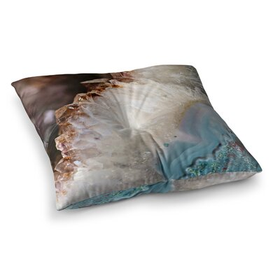 Sylvia Cook Quartz Waves Square Floor Pillow Size: 23 x 23