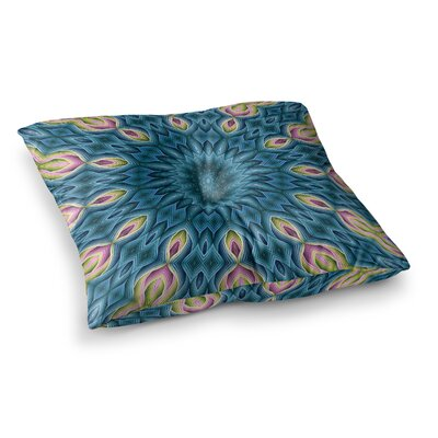 Sylvia Cook Zapped - Square Floor Pillow Size: 23 x 23, Color: Blue