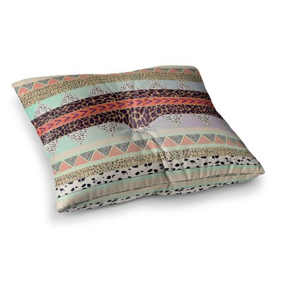Vasare Nar Animal Print Tribal Square Floor Pillow Size: 23 x 23