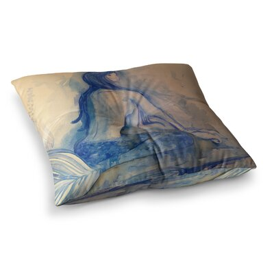 Theresa Giolzetti Mer-Maid Huh Square Floor Pillow Size: 26 x 26