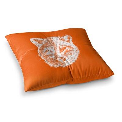 BarmalisiRTB Foxface Digital Square Floor Pillow Size: 23 x 23