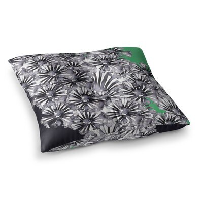 Sonal Nathwani Flowers on Square Floor Pillow Size: 23 x 23