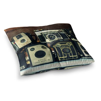 Robin Dickinson Through the Years Vintage Camera Square Floor Pillow Size: 23 x 23