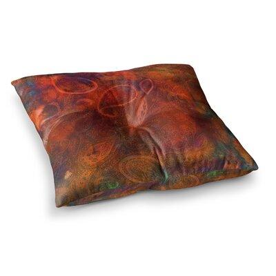 Nikki Strange Tie Dye Paisley Square Floor Pillow Size: 23