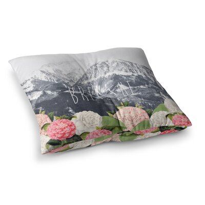 Suzanne Carter Breathe Floral Landscape Square Floor Pillow Size: 26 x 26