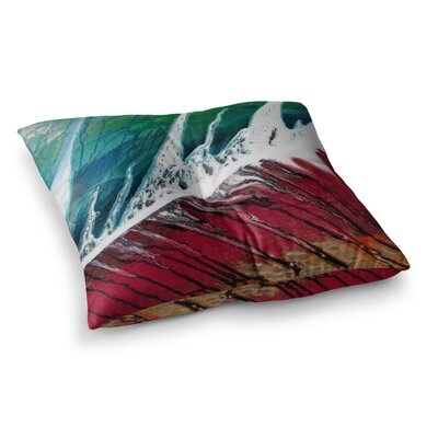 Steve Dix Splish Splash Square Floor Pillow Size: 23 x 23