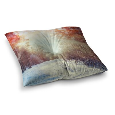 Snap Studio Winter Walkway Snowy Square Floor Pillow Size: 23 x 23