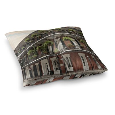 Sylvia Cook New Orleans Street Corner Square Floor Pillow Size: 23 x 23