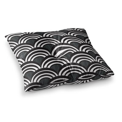 Nicole Ketchum Art Deco Square Floor Pillow Size: 23 x 23