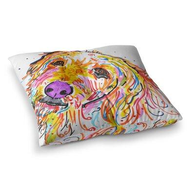 Rebecca Fischer Koda Labradoodle Square Floor Pillow Size: 26 x 26
