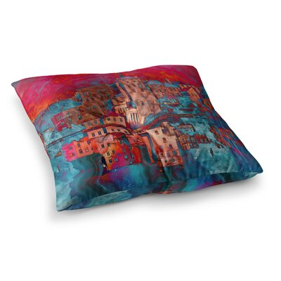 Suzanne Carter Marbled Skyline Square Floor Pillow Size: 26 x 26