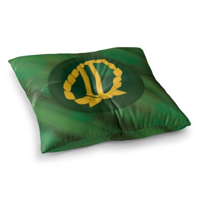 NL Designs Jupiter Emerald Square Floor Pillow Size: 26 x 26