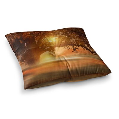 Viviana Gonzalez Romance in Autumn Square Floor Pillow Size: 23 x 23