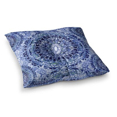 Nina May Blood Lace Mandalas Mixed Media Square Floor Pillow Size: 26 x 26, Color: Navy