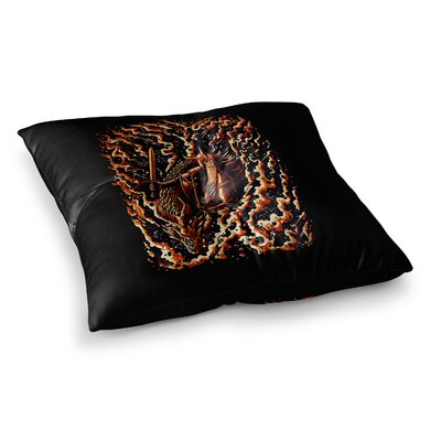 BarmalisiRTB Defense Abstract Square Floor Pillow Size: 26 x 26