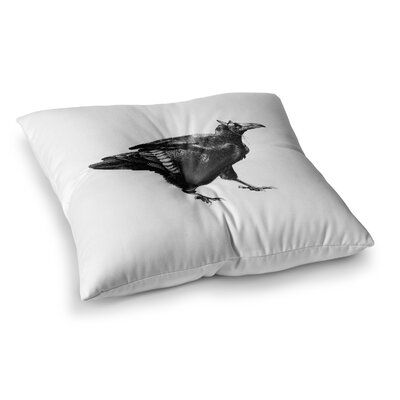 Sophy Tuttle Raven Square Floor Pillow Size: 23 x 23