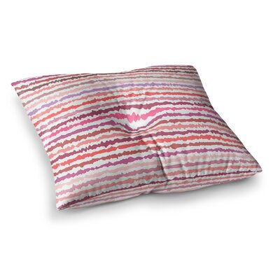 Nandita Singh Blush Stripes Striped Square Floor Pillow Size: 26 x 26