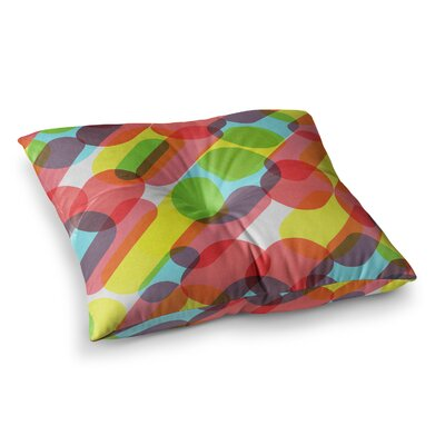 Tobe Fonseca Bubble Burst Pattern Digital Square Floor Pillow Size: 23 x 23