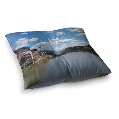 Nick Nareshni Canals of Italy Travel Square Floor Pillow Size: 23 x 23
