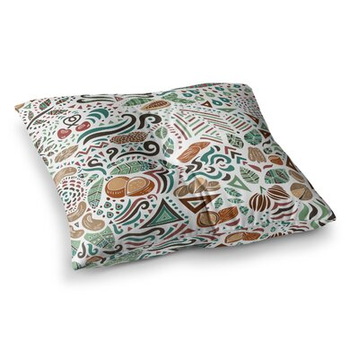 Pom Graphic Design Nuts For Love Illustration Square Floor Pillow Size: 26 x 26