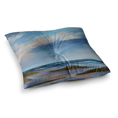 Rosie Brown Summer Showers Beach Square Floor Pillow Size: 23 x 23