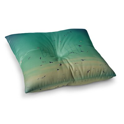 Robin Dickinson Blessed Birds Square Floor Pillow Size: 26 x 26
