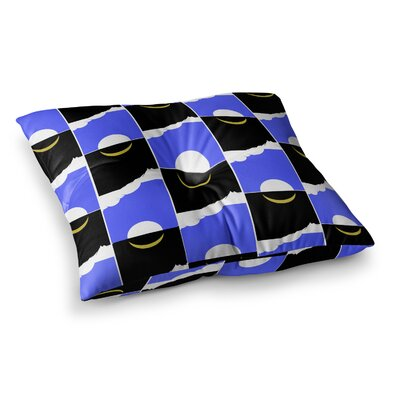 BarmalisiRTB The Sun and Moon Digital Square Floor Pillow Size: 23 x 23