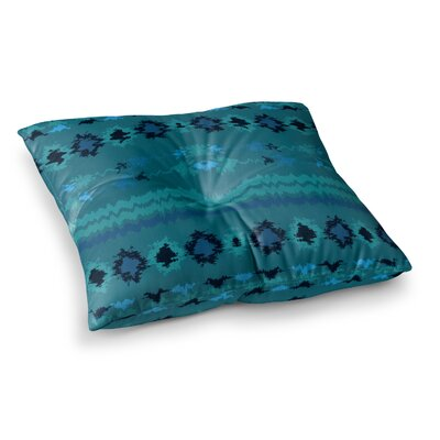 Nina May Peachy Tribal Square Floor Pillow Size: 23 x 23, Color: Blue