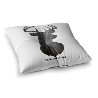 Suzanne Carter The Road2 Contemporary Square Floor Pillow Size: 26 x 26, Color: White