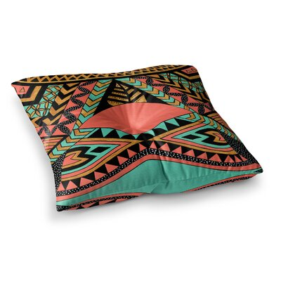 Pom Graphic Design Peru Native Coral Square Floor Pillow Size: 23