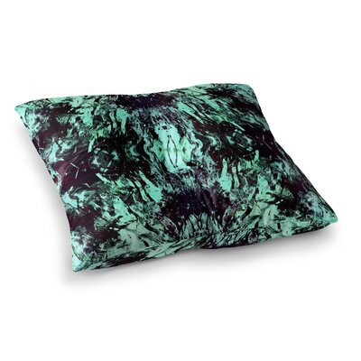 Vasare Nar Abstract Mixed Media Square Floor Pillow Size: 26 x 26