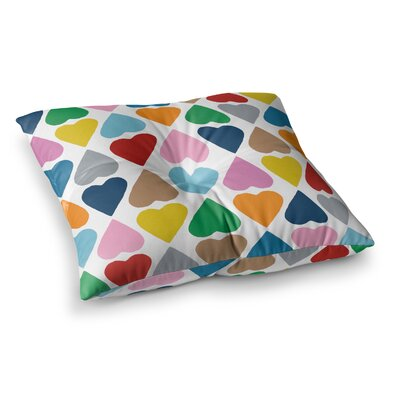 Project M Diamond Hearts Square Floor Pillow Size: 26 x 26