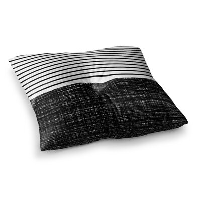 Trebam Platno with Stripes Square Floor Pillow Size: 26 x 26
