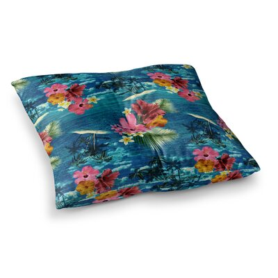 Victoria Krupp Paradise Island Square Floor Pillow Size: 26 x 26