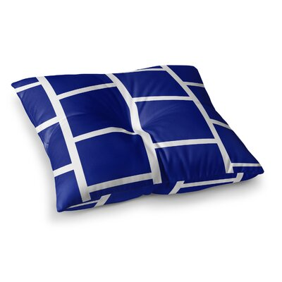 NL designs Square Blocks Pattern Square Floor Pillow Size: 26 x 26