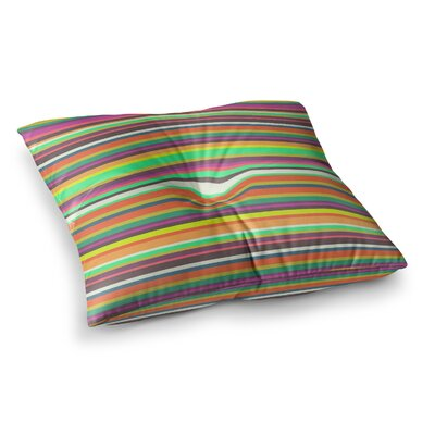 Nandita Singh Pattern Play Stripes Rainbow Square Floor Pillow Size: 26 x 26
